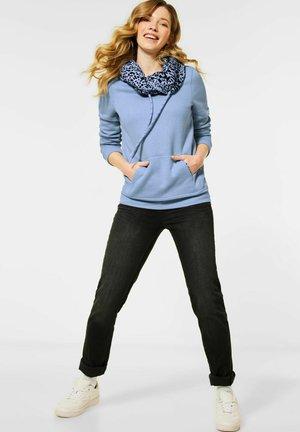 MIT ANIMAL-PRINT - Sweatshirt - blau