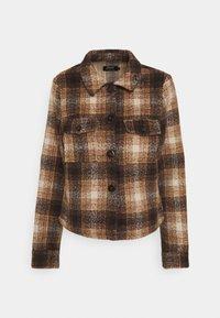 ONLLOU SHORT CHECK JACKET - Summer jacket - pumice stone
