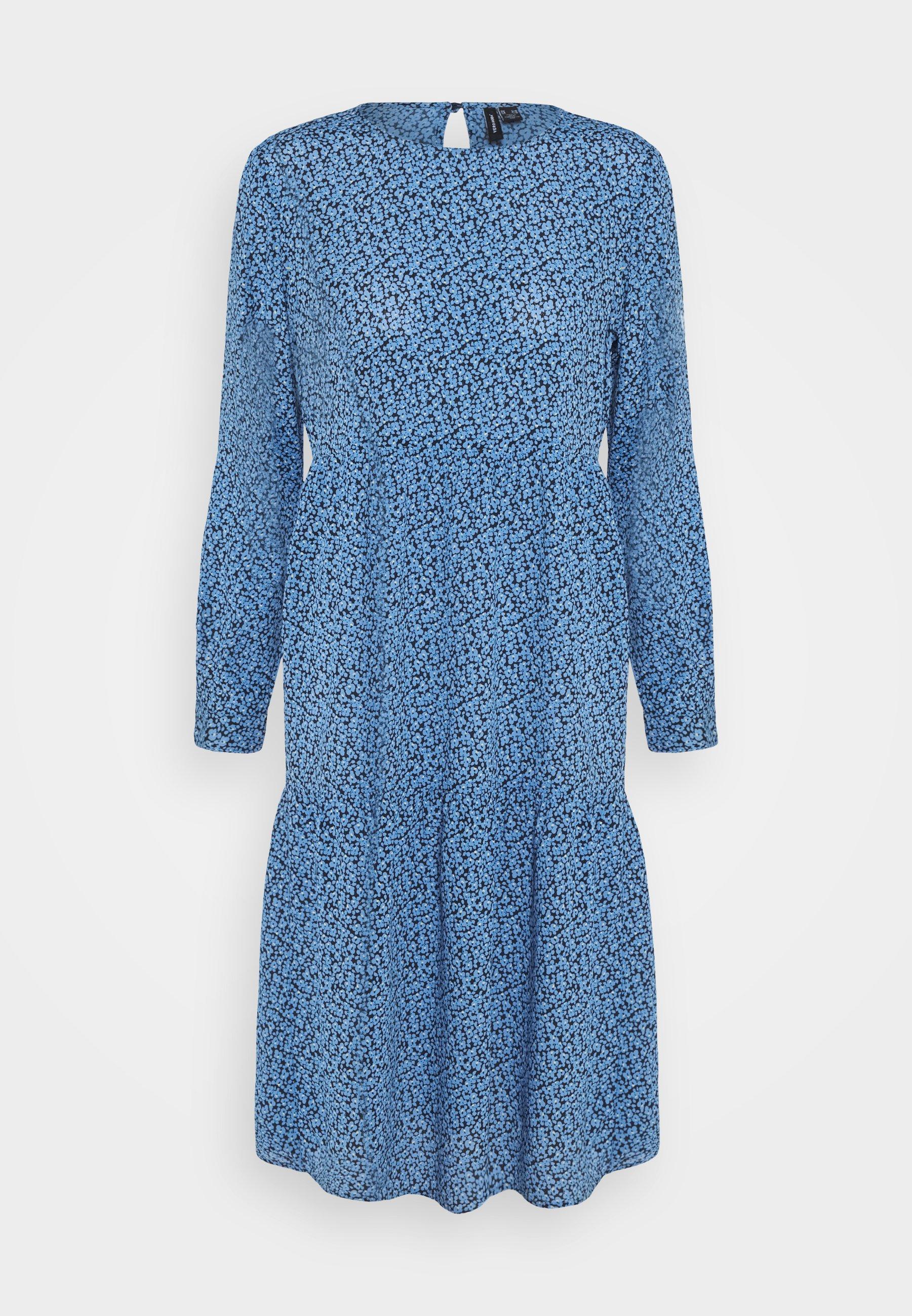 Women VMCATIE O-NECK CALF DRESS - Day dress