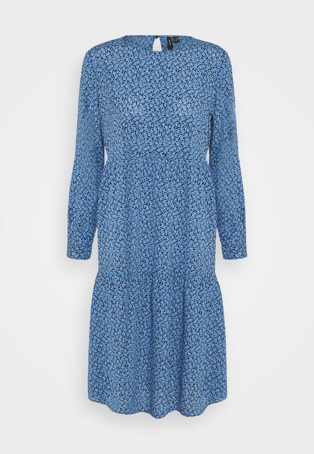 VMCATIE O-NECK CALF DRESS - Day dress - granada sky