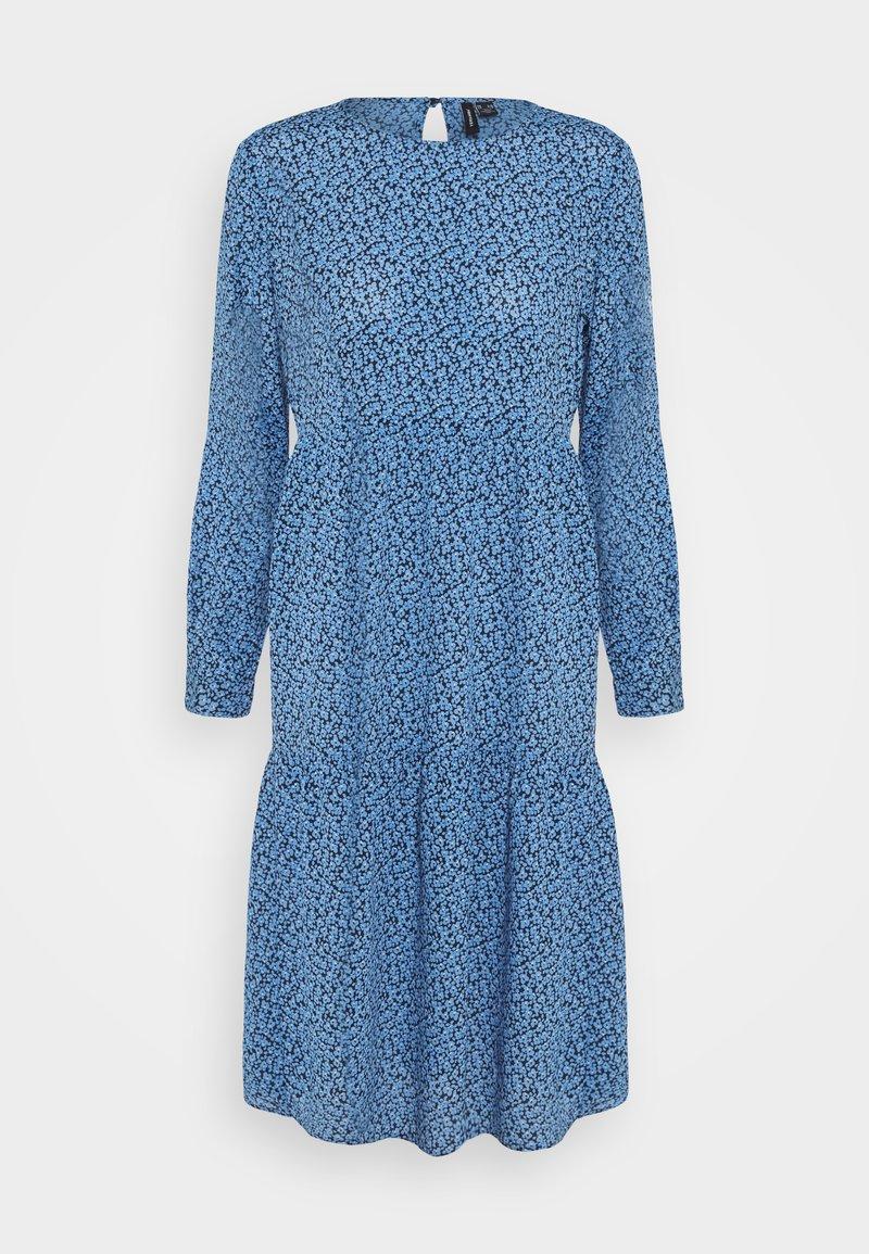 Vero Moda Petite - VMCATIE O-NECK CALF DRESS - Day dress - granada sky