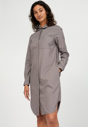 ULRIKAA PKT MICROCHECK - Shirt dress - kitt