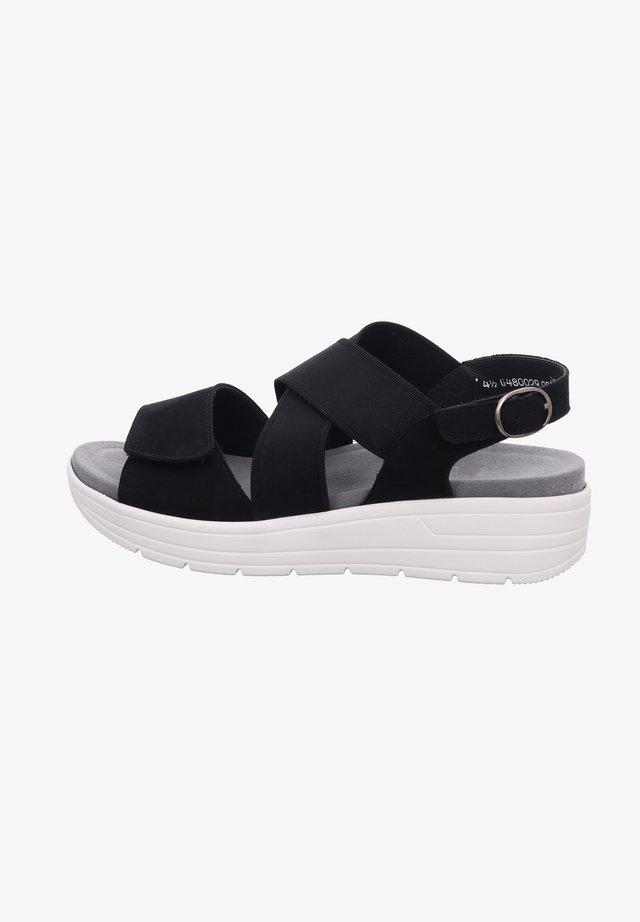 GRETA - Platform sandals - schwarz