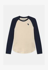 Abercrombie & Fitch - RAGLAN - Long sleeved top - cream body - 0