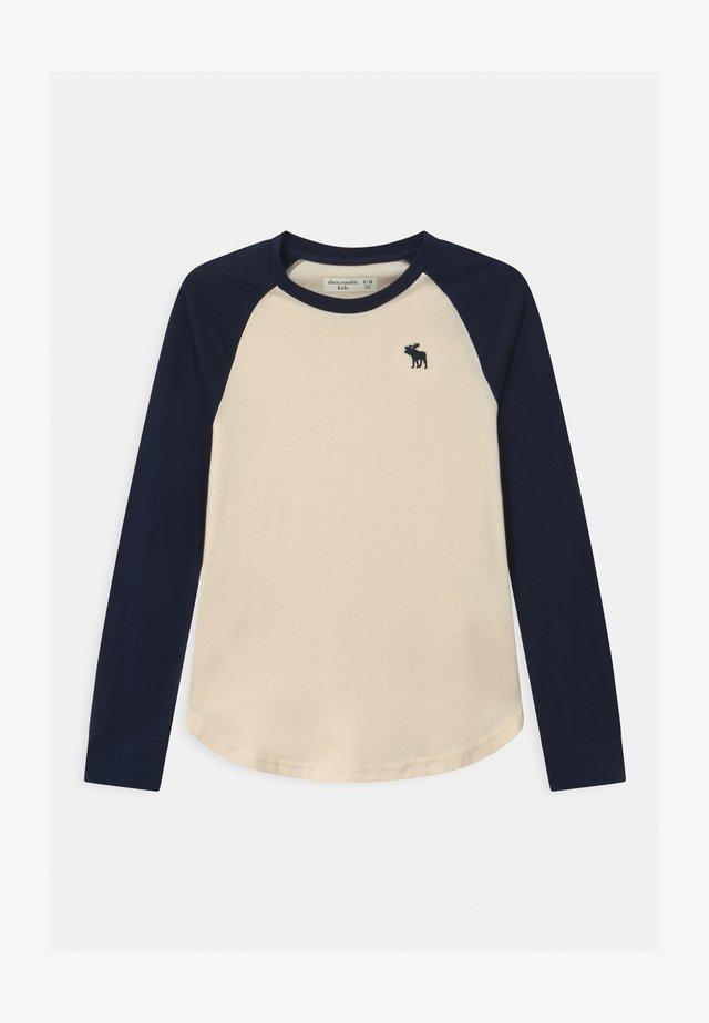 RAGLAN - Long sleeved top - cream body