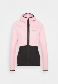 clear pink/black
