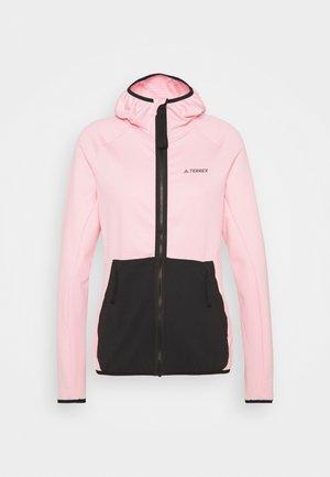 TERREX TECH FLOOCE LIGHT HOODED - Fleece jacket - clear pink/black