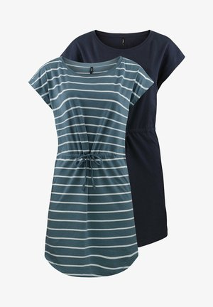 ONLMAY 2 PACK - Jersey dress - blue mirage primo stripe