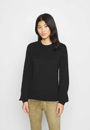 FITTED PUFFY - Jumper - black