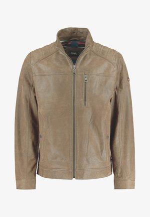 Leather jacket - hellbraun