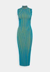 Hervé Léger - SLEEVELESS TURTLENECK DRESS - Vestito elegante - tidal wave - 4