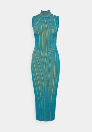 SLEEVELESS TURTLENECK DRESS - Sukienka koktajlowa - tidal wave