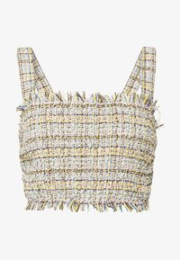 CMEO COLLECTIVE - FOR YOU LOVE TOP - Pusero - ivory tweed - 4