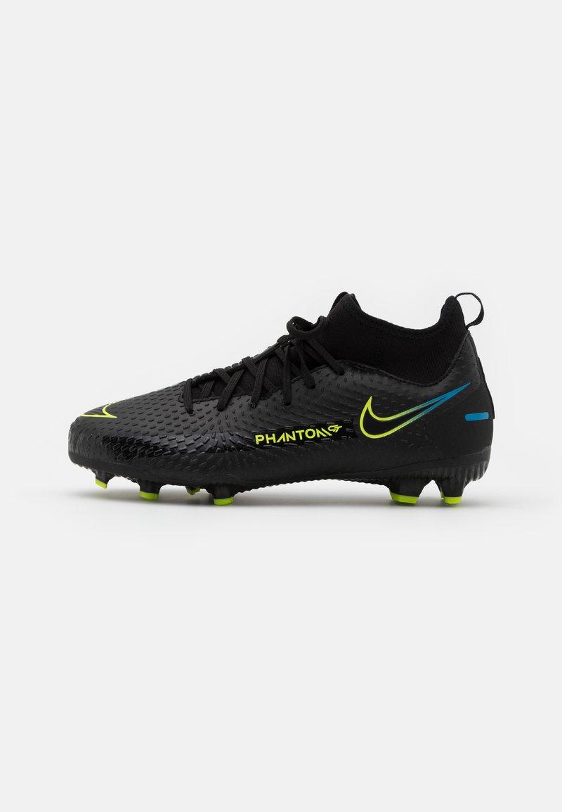 Nike Performance - JR PHANTOM GT ACADEMY DYNAMIC FIT MG UNISEX - Moulded stud football boots - black/cyber/light photo blue