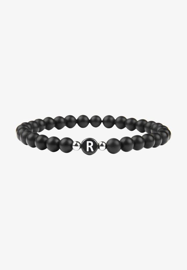 BUCHSTABENPERLEN R - Armband - schwarz