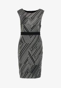 Esprit Collection - PRINTED PLISSE - Shift dress - black - 5