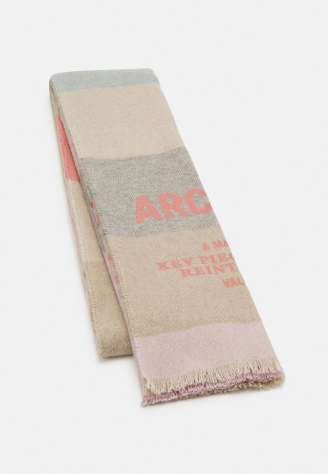 SCARF WOVEN CHECK WITH LOGO - Scarf - multi-coloured