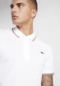 Lacoste Sport - POLO KURZARM - Poloshirt - white/geranium - 4