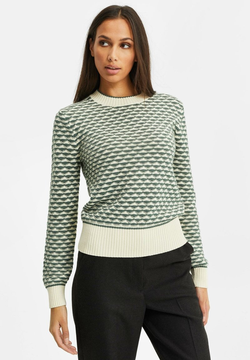 WE Fashion - Strikpullover /Striktrøjer - greyish green