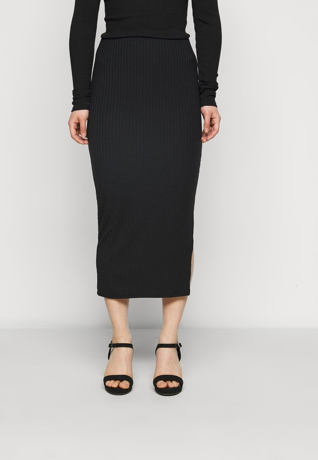 COORD MIDI SKIRT  - Pencil skirt - black