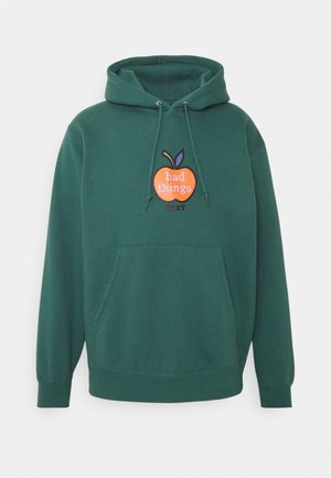 BAD THINGS HOOD - Bluza z kapturem - mallard green