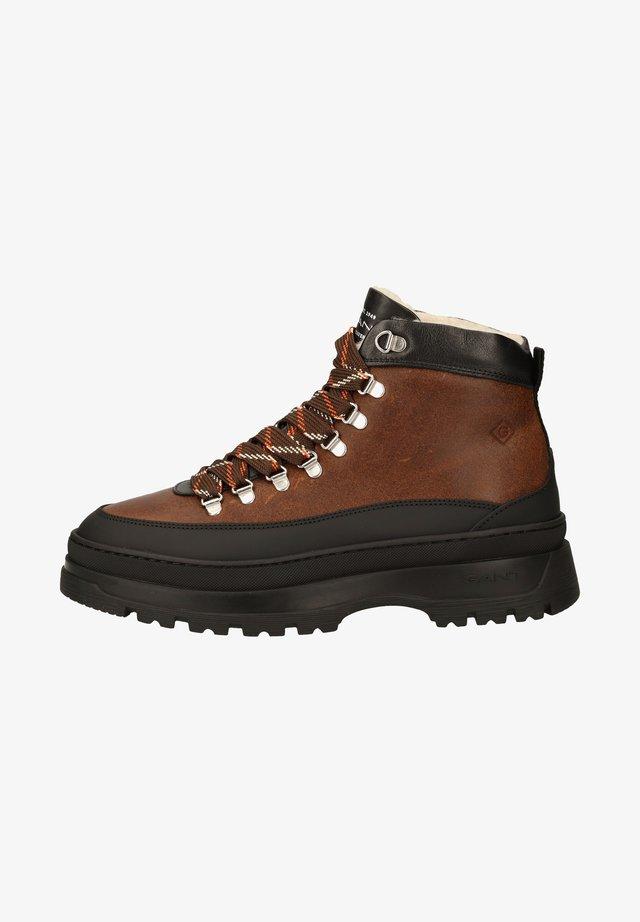 Ankle boot - cognac/black