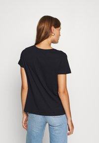 Trendyol - LACIVERT - Print T-shirt - navy - 2