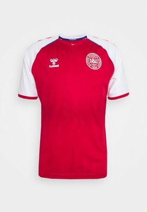 DÄNEMARK DBU 20/21 HOME  - Camiseta estampada - tango red