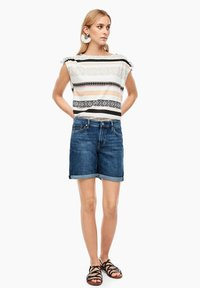 s.Oliver - Denim shorts - blue denim stretch - 1
