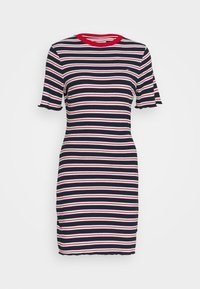 Tommy Jeans - STRIPED TEE DRESS - Jersey dress - twilight navy/white - 4