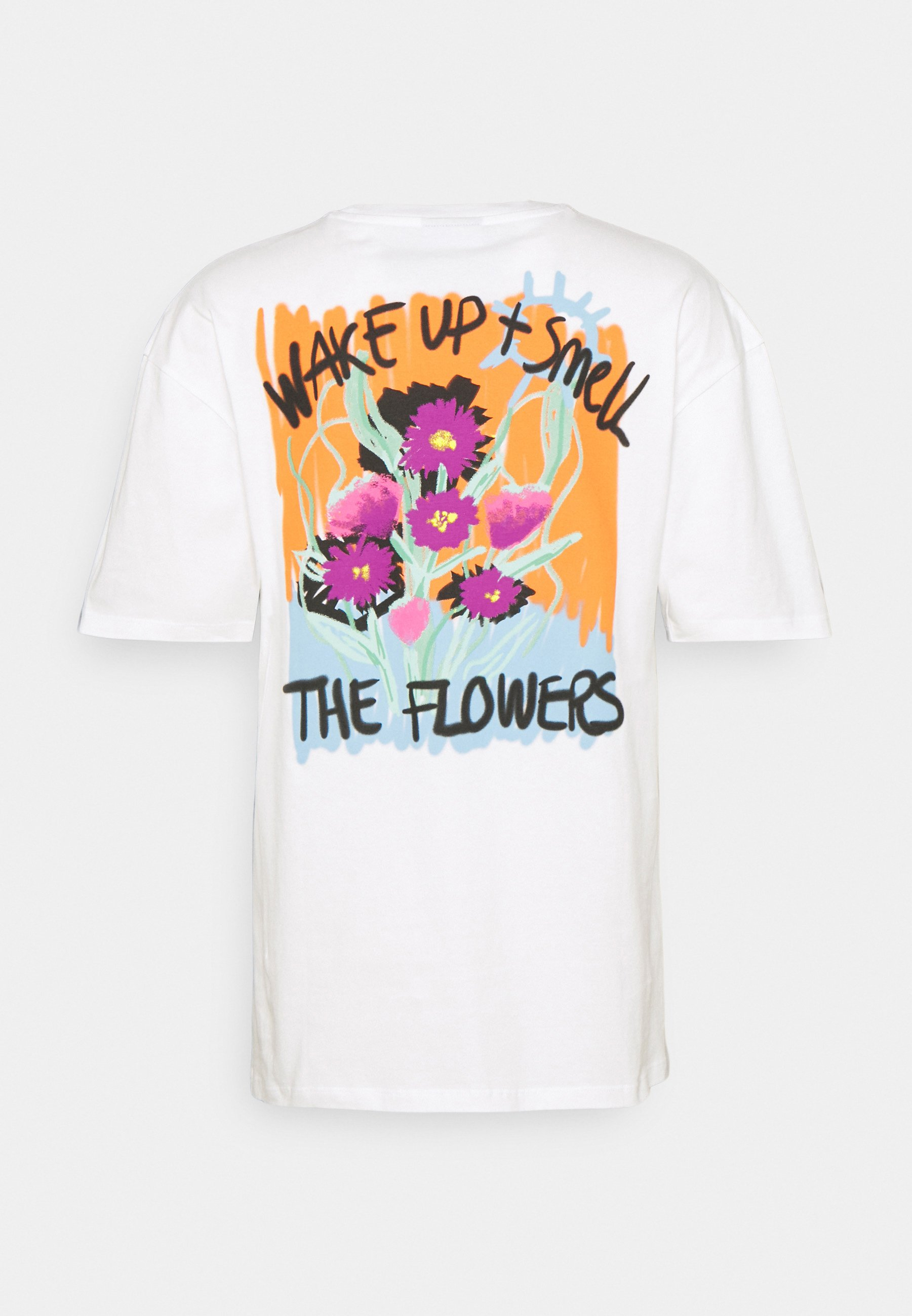 Damen WAKE UP AND SMELL THE FLOWERS TEE UNISEX - T-Shirt print