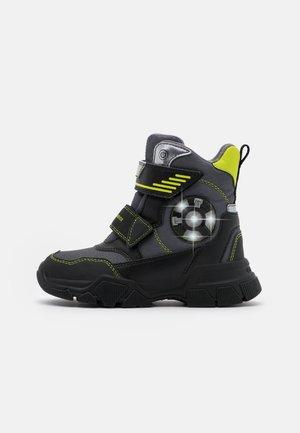 NEVEGAL BOY ABX - Snowboots  - dark grey/lime