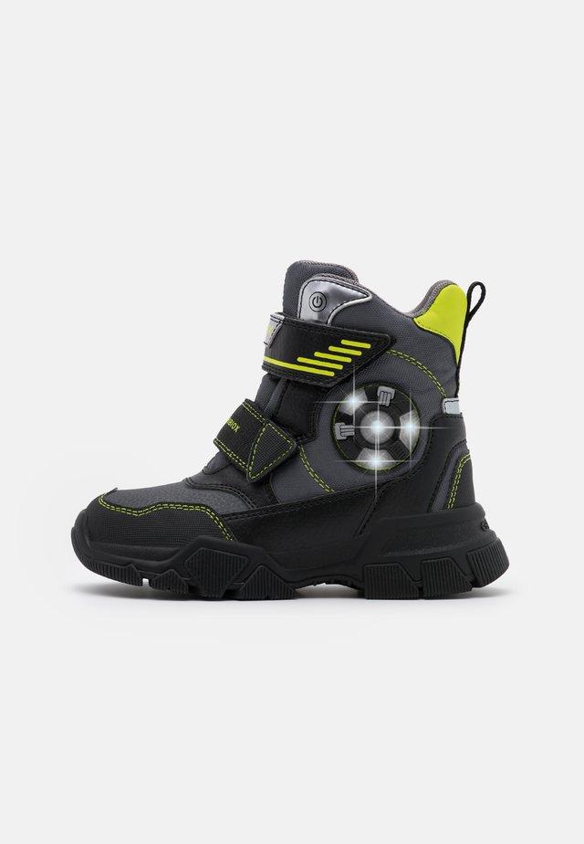 NEVEGAL BOY ABX - Zimní obuv - dark grey/lime