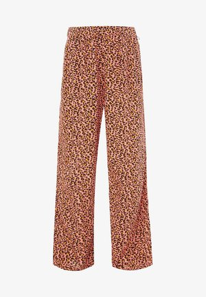 WE FASHION MÄDCHENHOSE MIT LEOPARDENMUSTER - Trousers - pink