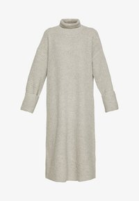 STERLING NECK DRESS - Strikkjoler - grey melange