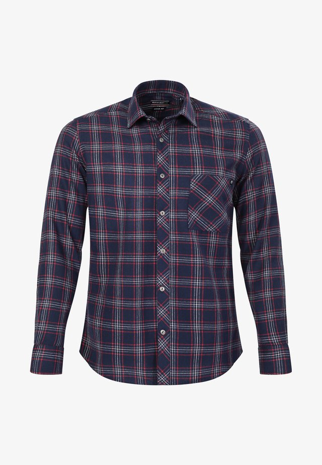 Overhemd - navy-bordeaux