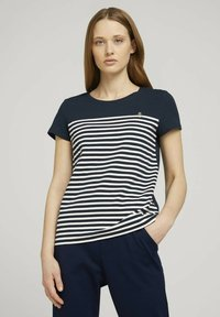 TOM TAILOR DENIM - Print T-shirt - sky captain blue - 0