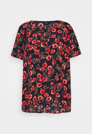 VBELLA BLOUSE - Print T-shirt - black