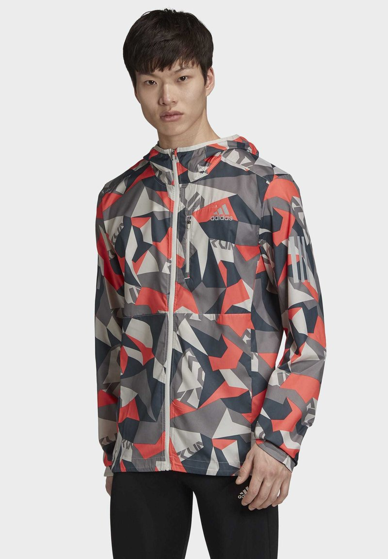 adidas Performance - OWN THE RUN CAMO JACKET - Outdoor jacket - grey