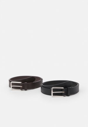 JACTOM BELT GIFTBOX 2 PACK - Bælter - black/coffee solid