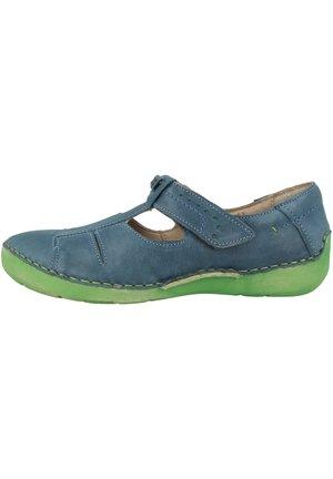 JOSEF SEIBEL - Ankle strap ballet pumps - blue