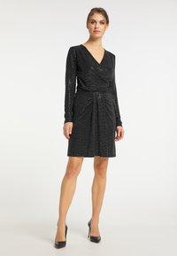 usha - A-line skirt - schwarz silber - 1