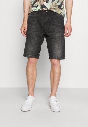 BERMUDA - Jeans Shorts - dark stone black denim