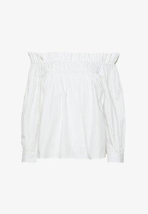 POPLIN BARDOT FRILL DETAIL - Bluser - white