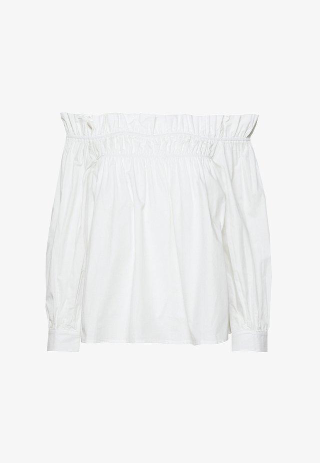 POPLIN BARDOT FRILL DETAIL - Blouse - white