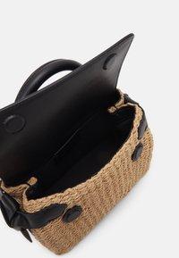 KARL LAGERFELD - IKON MINI TOP HANDLE - Across body bag - natural/black - 3