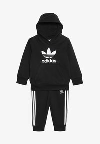adidas Originals - TREFOIL HOODIE SET UNISEX - Dres - black/white - 4