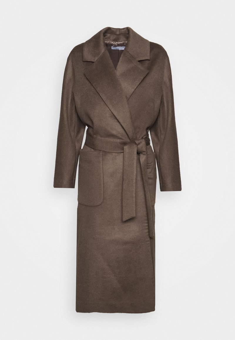 pure cashmere - BELTED COAT - Classic coat - cocoa brown