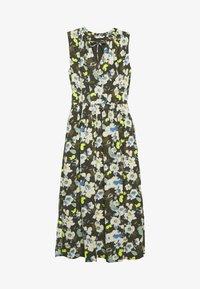 TOM TAILOR - DRESS PRINTED - Maxi šaty - khaki design green - 0