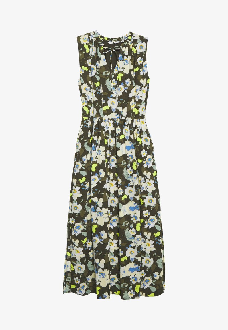 TOM TAILOR - DRESS PRINTED - Maxi šaty - khaki design green